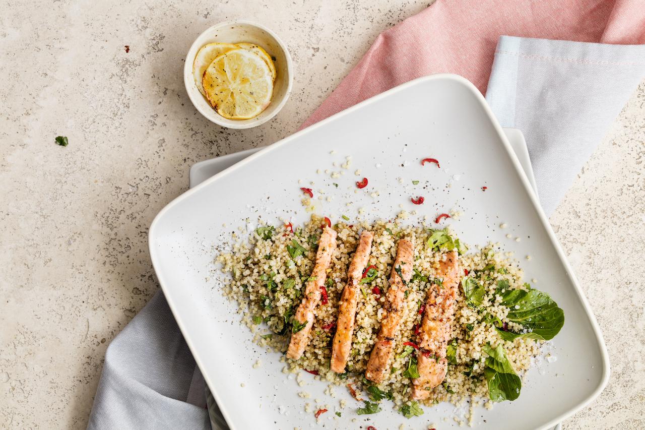 Salmon and Bok Choy Chilli Stir-fry!