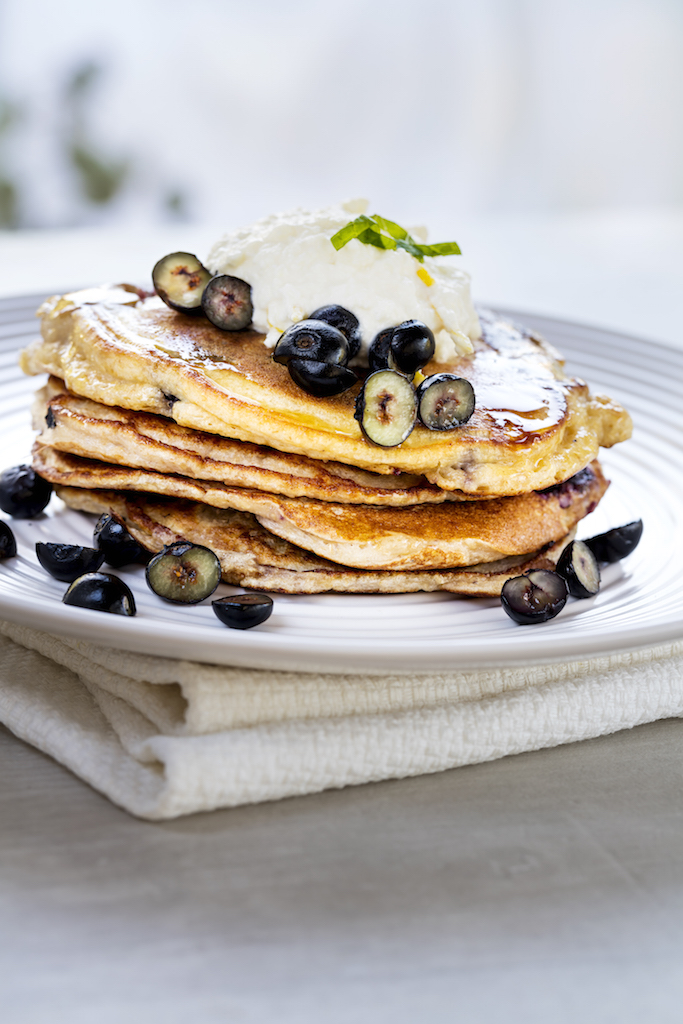 Easter morning breakfast recipe – Buttermilk Blueberry and Blackberry Pancakes!