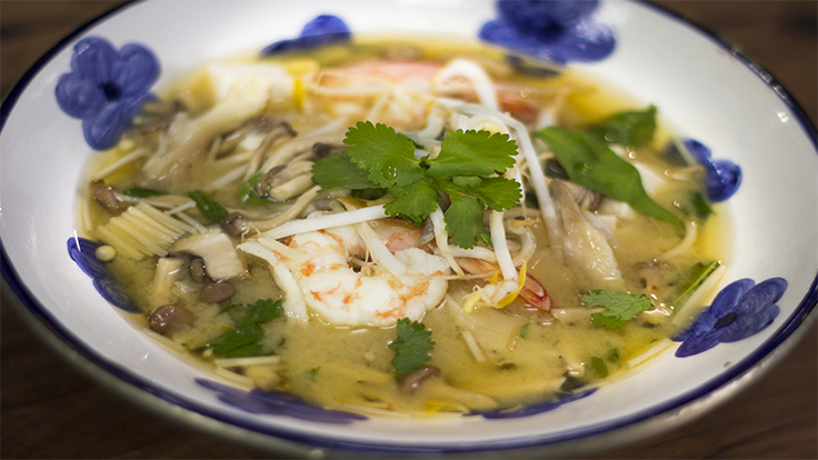 Prawn and mushroom miso soup recipe + prepping a healthy winter pantry